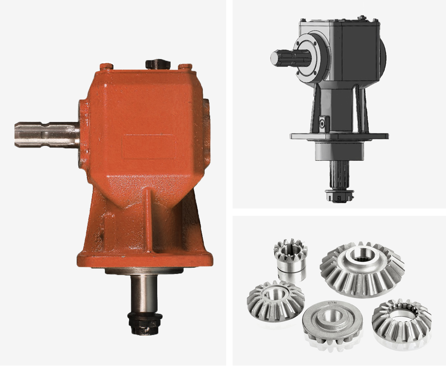 Rotary lawn mower gearbox